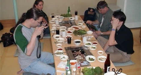 Typical dining experience in Korea