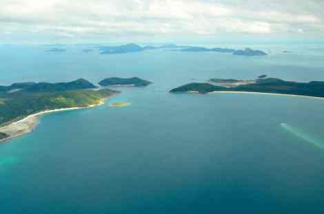We flew over many of the 74 islands en route to Whitehaven Beach