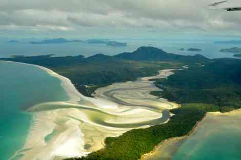 Our approach to Whitehaven Beach on May 22, 2013