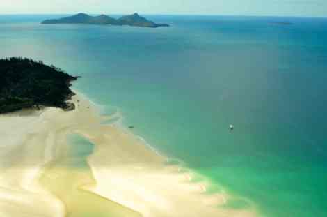 Whitehaven Beach is 98% silica sand