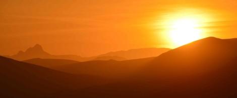 Sunrise over Namibia