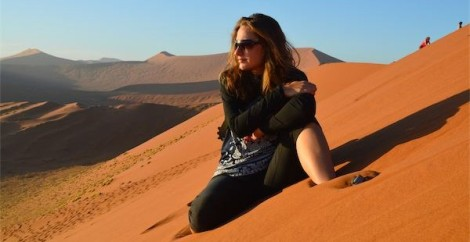 Me atop Dune 45 in Namibia