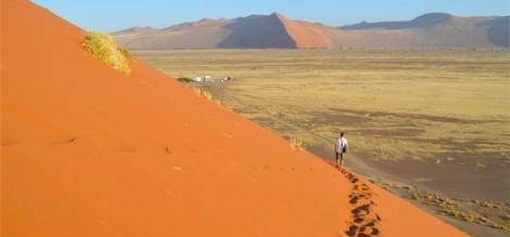 Heading down Dune 45