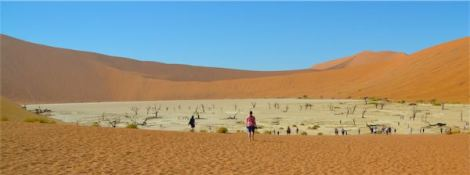 Seeing Deadvlei in the distance
