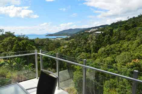 View from our apartment at Summit Apartments, Airlie Beach