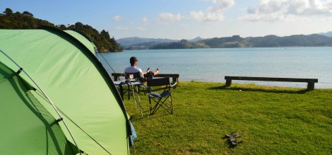 DOC Campsite at Whangaruru North, North Island, New Zealand