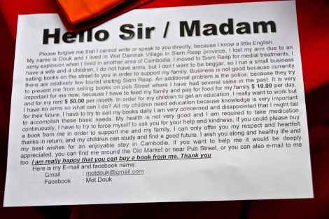 Mot Douk's Letter to Potential Customers
