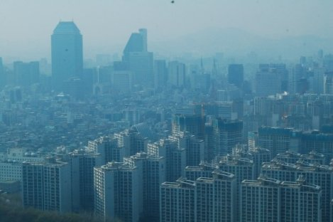 Seoul is a densely packed city with questionable air quality