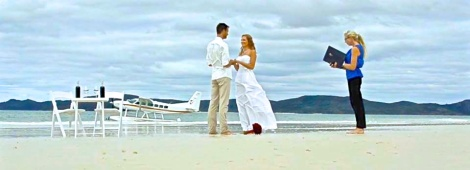 Eloping on Whitehaven Beach, Whitsunday Island, Great Barrier Reef, Australia