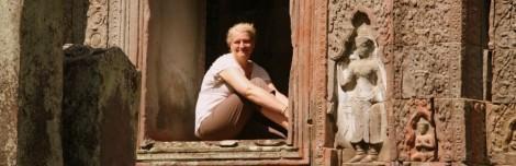 Carol at Angkor Wat, Cambodia