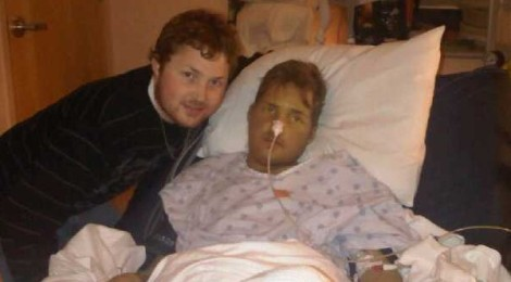 Me (when I was healthier than now) with my brother Curt after his liver transplant