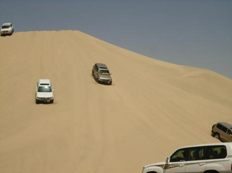 Dune driving - one of the fun new things we get to do!