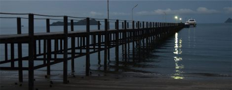 Pier at Chumpon on the mainland which you'll visit on visa runs from Koh Tao