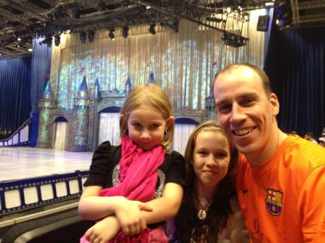 Me with our girls at Disney on Ice in Qatar