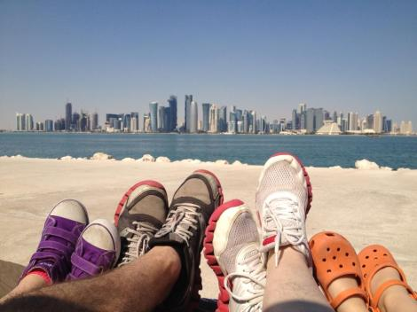 Enjoying a family adventure in Qatar