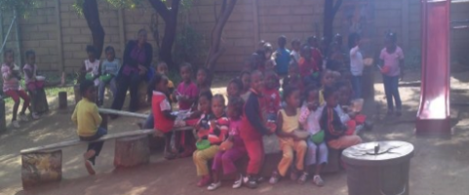 Kids at the orphanage