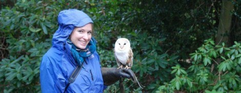 With a special little friend on a day we experienced flying many raptors in England
