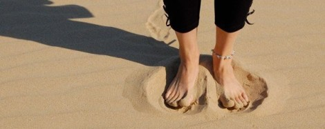 Wiggling my toes in South African sand for the first time - on the beach where Erik spent his childhood