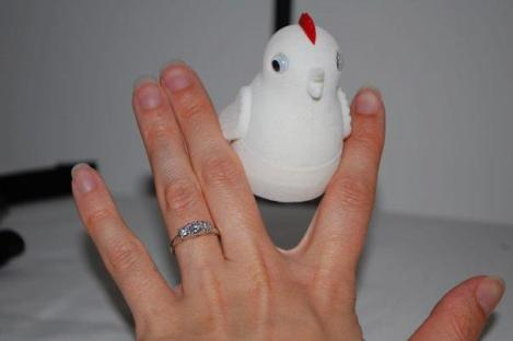 The chicken box my ring was in when Erik proposed