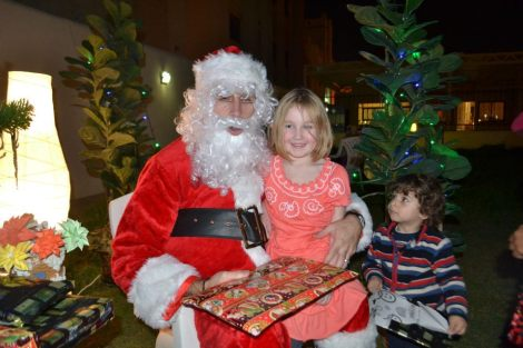 Me playing Santa in Qatar