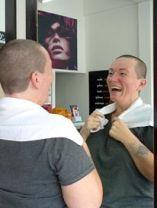 shaving her head