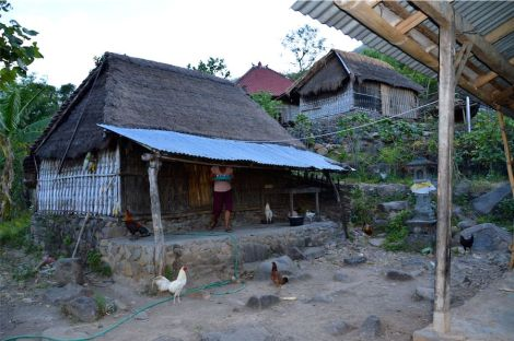 The kitchen where Kutang now sleeps