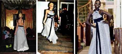 Rochelle Simone - white and black dress design