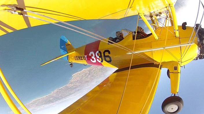 Flying a bi-plane