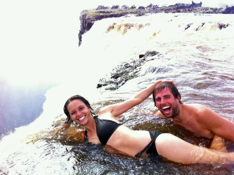 Devil's Pool at Victoria Falls in Zambia