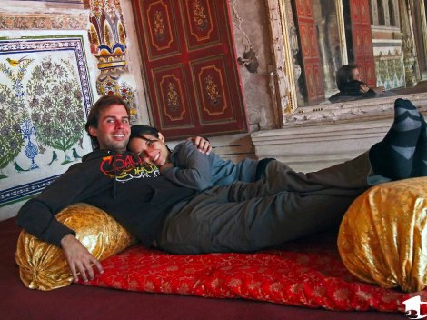 Relaxing in a palace in Karauli, India