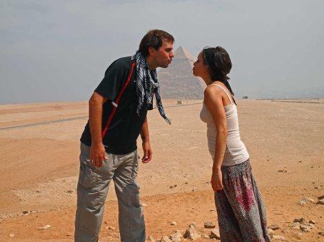 Kissing the pyramid