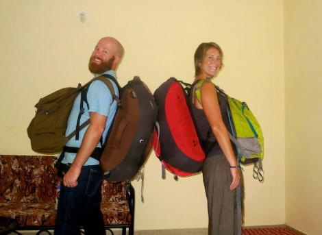 Nomadic turtles, carrying our 'home' on our backs...