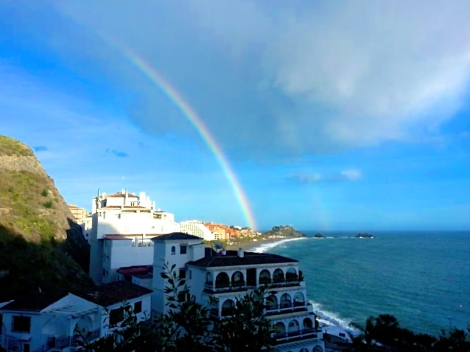 Rainbow over Almuñécar, Spain